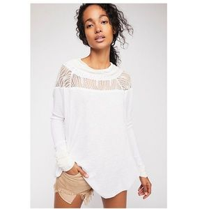Free People - Spring Valley Top in Ivory NWT